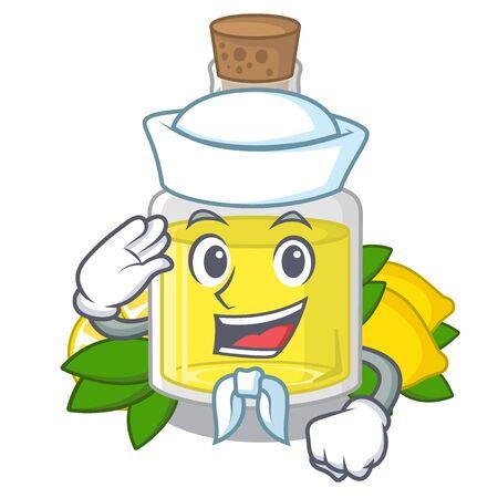 Sailor lemon oil in the mascot shape Illusztráció