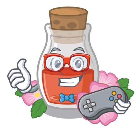 Gamer rosehip oil the cartoon shape