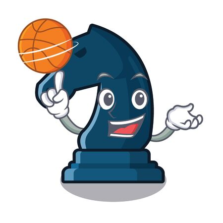 With basketball chess knight in the mascot shape