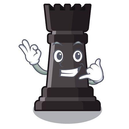 Call me rook chess on a cartoon chair 矢量图像
