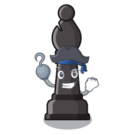 Pirate chess bishop isolated with the cartoon