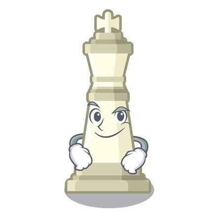 Smirking chess king on a the mascot Vektorgrafik