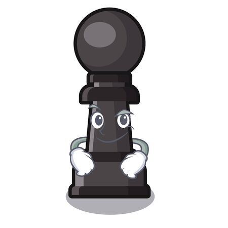 Smirking chess pawn toy the shape mascot vector illustration