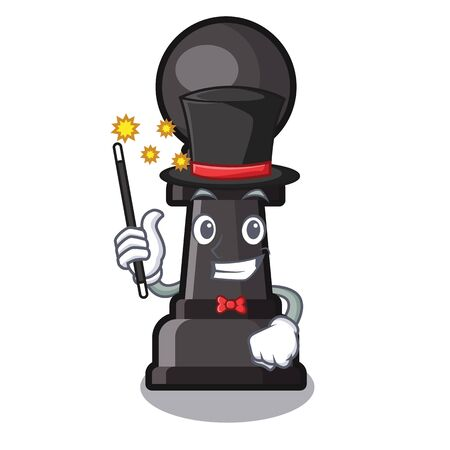 Magician chess pawn on in the character vector illustration Illustration
