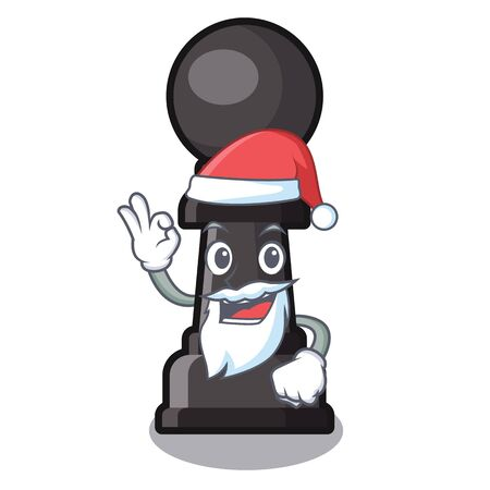 Santa chess pawn on in the character Illustration