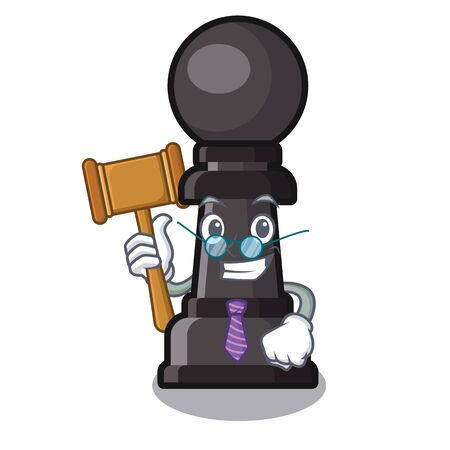 Judge chess pawn on in the character vector illustration Иллюстрация