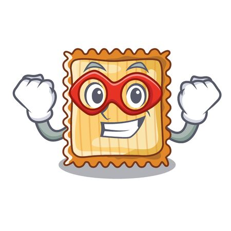 Super hero lasagne isolated with in the cartoon