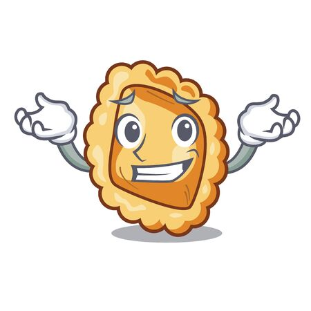 Grinning ravioli in the a cartoon bowl vector illustration Ilustracja