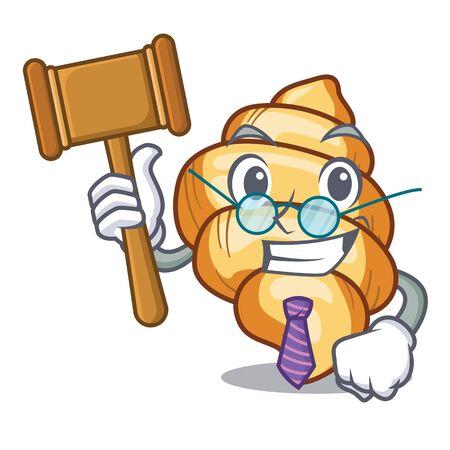 Judge pasta gnocchi on the a cartoon Illustration