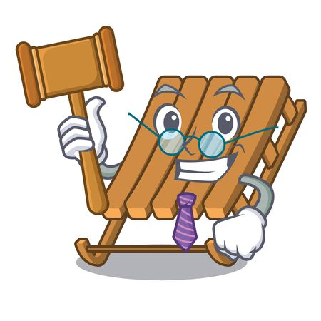Judge ice sled isolated with the character Illustration