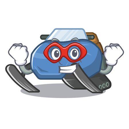Super hero snowmobile toys in the cartoon shape Stock Vector - 126265871