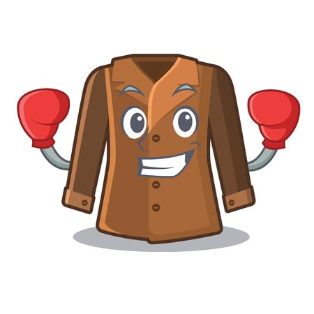 Boxing coat in the a character shape