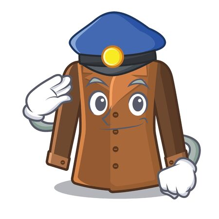 Police coat in the a character shape