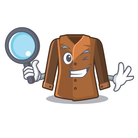 Detective coat isolated with in the mascot