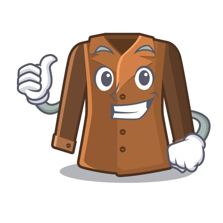 Thumbs up coat isolated with in the mascot