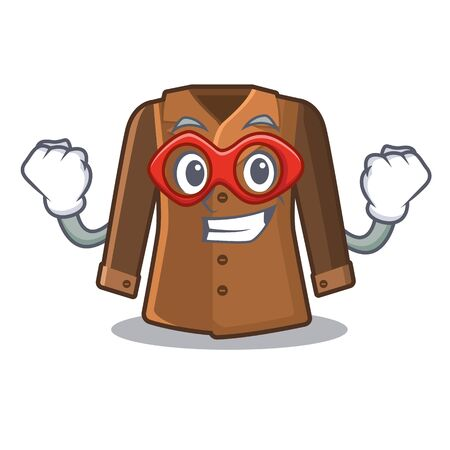 Super hero coat isolated with in the mascot Vectores