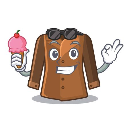 With ice cream coat isolated with in the mascot