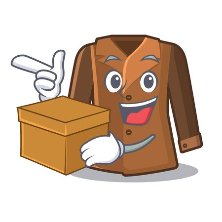 With box coat isolated with in the mascot