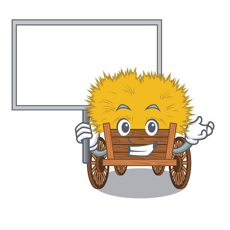 Bring board hayride isolated within in the character vector illustration