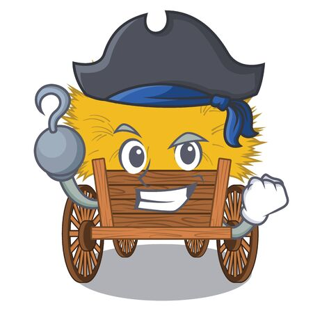 Pirate hayride isolated within in the character Иллюстрация