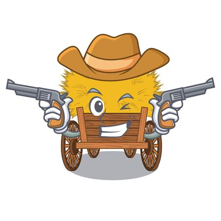 Cowboy hayride isolated within in the character