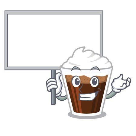 Bring board irish coffee isolated with the cartoon