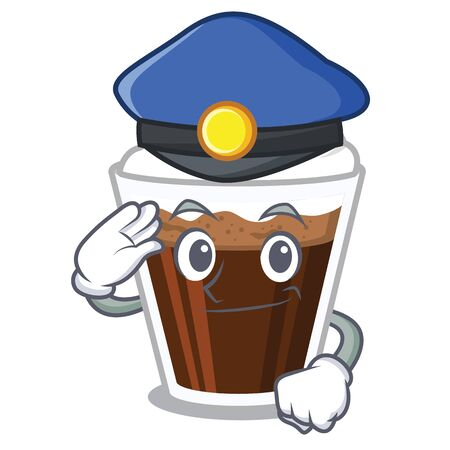 Police irish coffee isolated with the cartoon