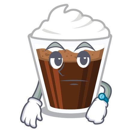 Waiting Irish coffee in the character shape