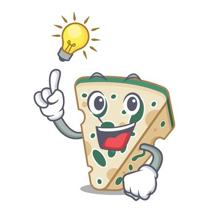 Have an idea blue cheese isolated with the mascot