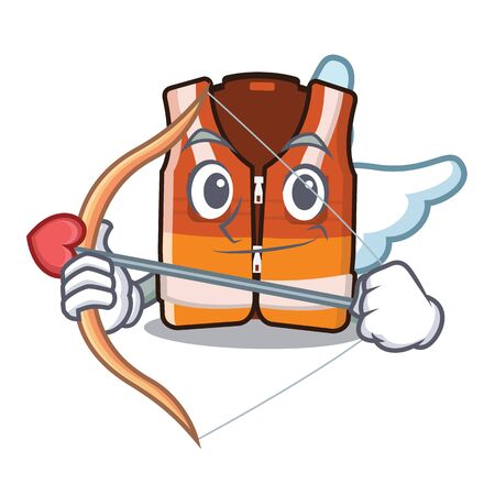 Cupid safety vest isolated in the character vector illustration