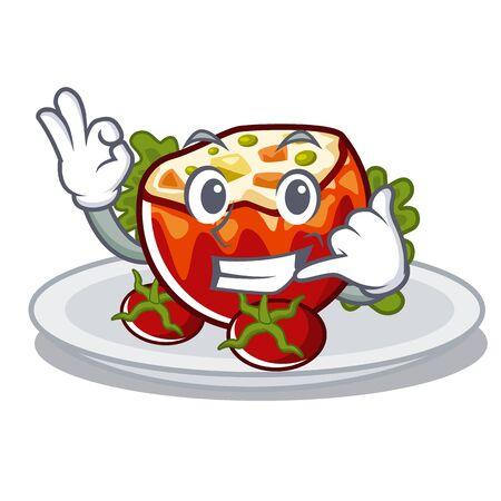 Call me stuffed tomatoes in the cartoon shape