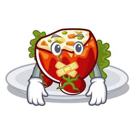 Silent stuffed tomatoes in the cartoon shape Vektoros illusztráció