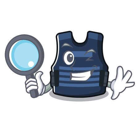 Detective bulletprof vest in the cartoon shape