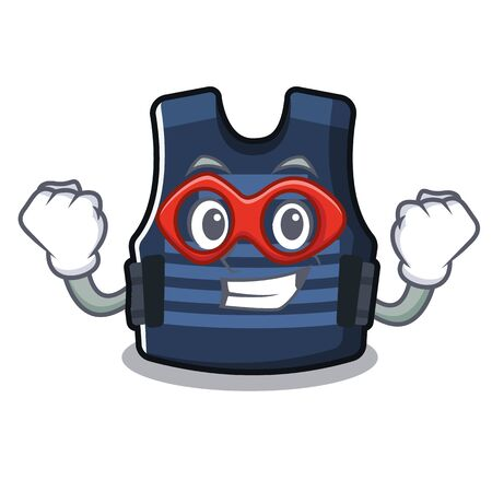Super hero bulletprof vest in the cartoon shape 矢量图像