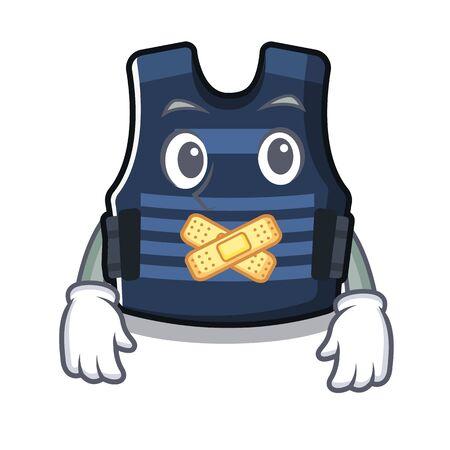 Silent bulletprof vest stored in cartoon closet Çizim