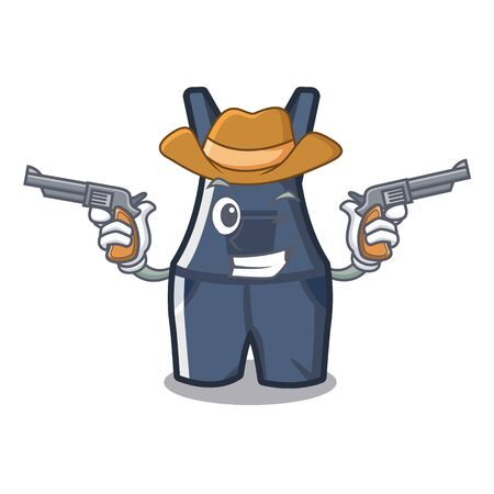Cowboy overalls isolated with in the mascot