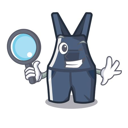 Detective overalls in the a character shape