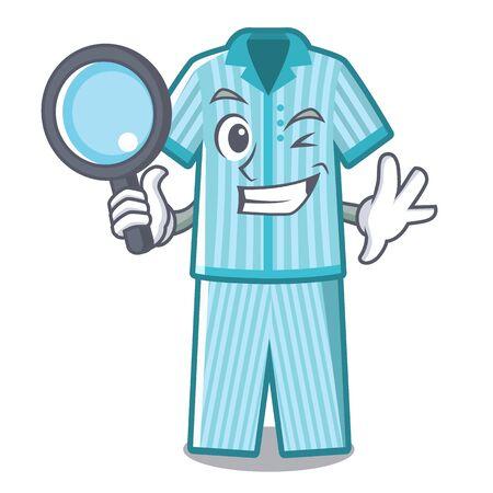 Detektiv-Pyjama in Maskottchen-Form