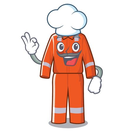 Chef working overalls isolated in the mascot