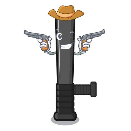 Cowboy police baton isolated with the character