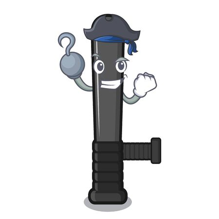 Pirate police baton isolated with the character