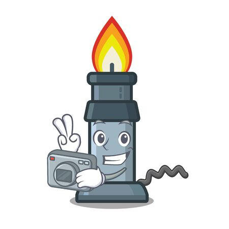 Photographer busen burner in the character pocket vector illustration