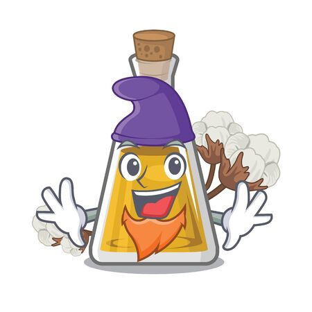 Elf cottonseed oil in a mascot bottle vector illustration Imagens - 127136338