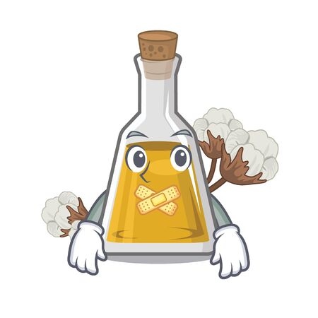 Silent cottonseed oil at the cartoon table Imagens - 127136388