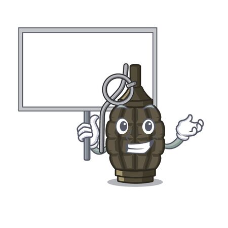 Bring board grenade isolated with on the character vector illustration
