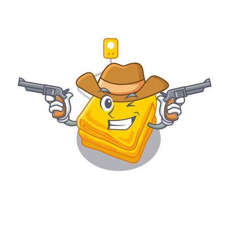 Cowboy electric blanket in the character shape vector illustration