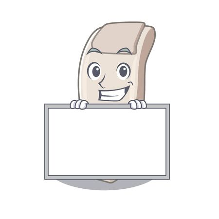 Grinning with board massage chair isolated in the character vector illustration 일러스트