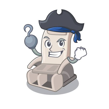 Pirate massage chair isolated in the character vector illustration
