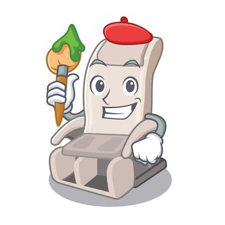 Artist massage chair isolated in the character vector illustration 일러스트