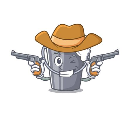 Cowboy soapy water isolated with the mascot vector illustration